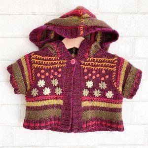 Deux par deux Knit cardigan hooded sweater 24m